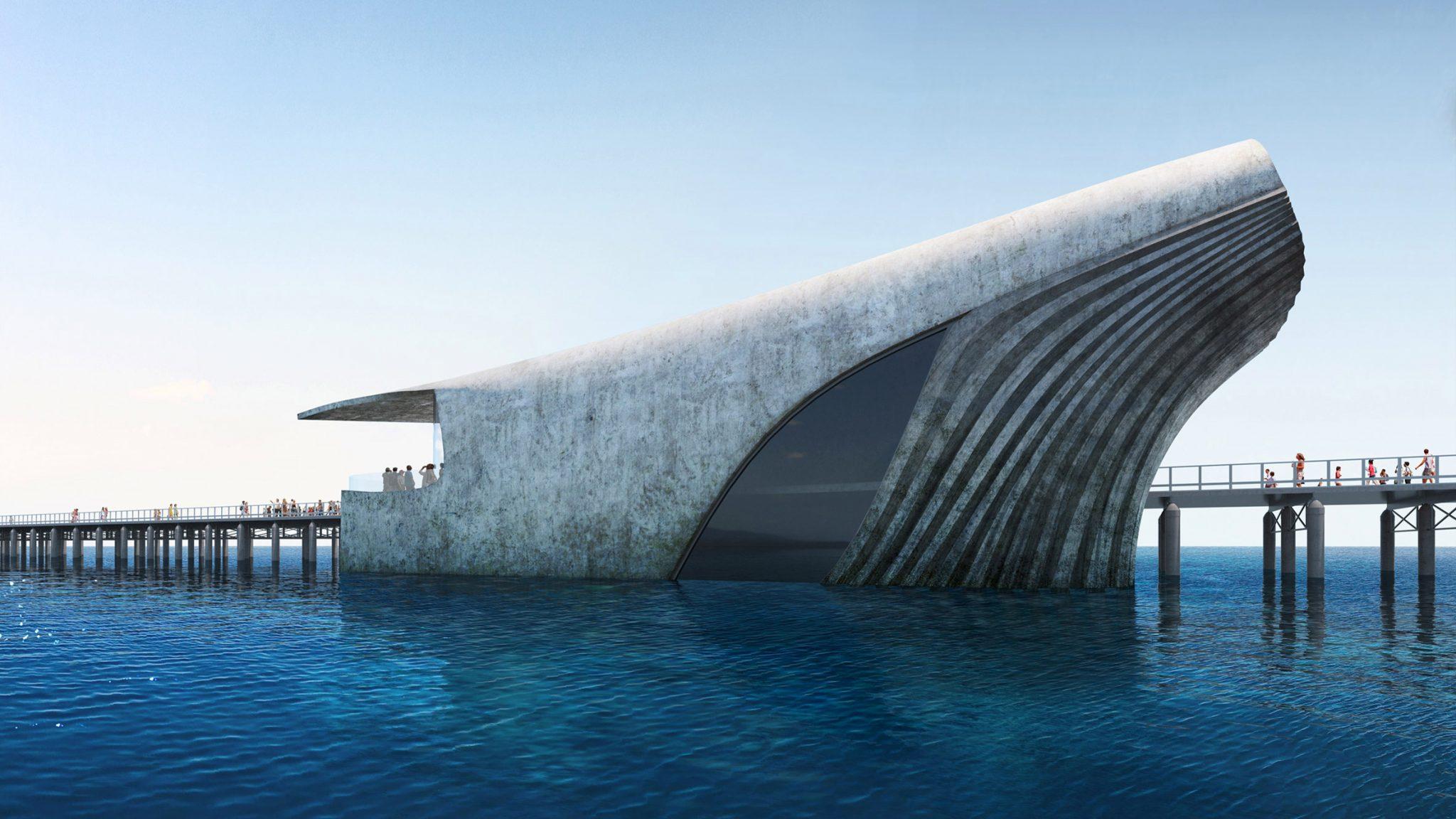 ავსტრალიის საზღვაო ობსერვატორიის შენობას წყლის ზედაპირზე გამოჩენილი ვეშაპის ფორმა ექნება