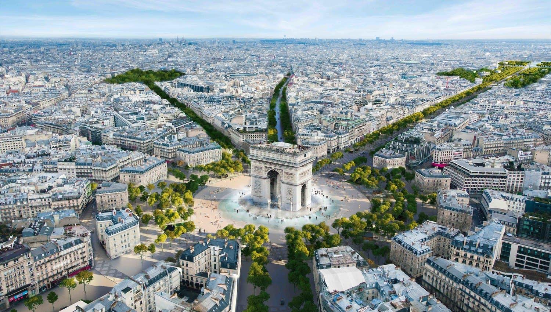 პარიზის მერიამ შანზ-ელიზეს გამზირის პარკად გარდაქმნის პროექტი დაამტკიცა